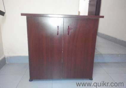 Multipurpose Wooden Table Brown Colour With 3 Shelves For