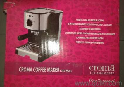 Coffee Maker Quikr : Croma Coffee Maker Brand New in Box unopened in Anna Nagar East, Chennai New Home - Kitchen ...