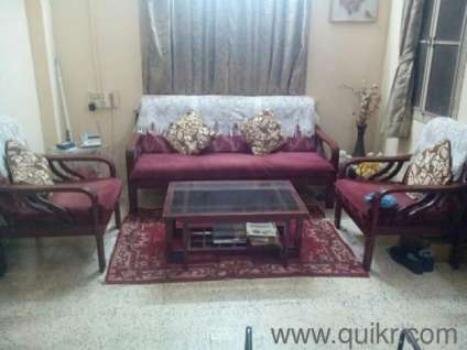 Wooden Sofa Set For Sell In Andheri East Mumbai Used Home Office Furniture On Mumbai Quikr
