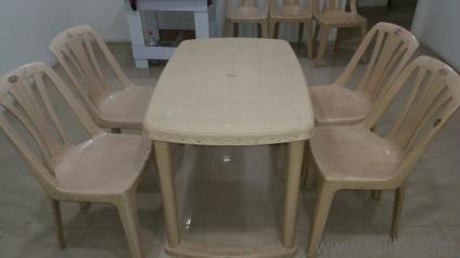 Nilkamal Plastic Dinning Table Chair Set In Sector 63 Noida Used Home Offi