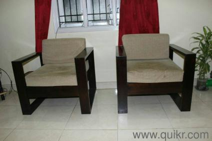 Strong Solid Sesame Wood Make 3 1 1 Sofa Set In Koramangala Bangalore Home Office Furniture