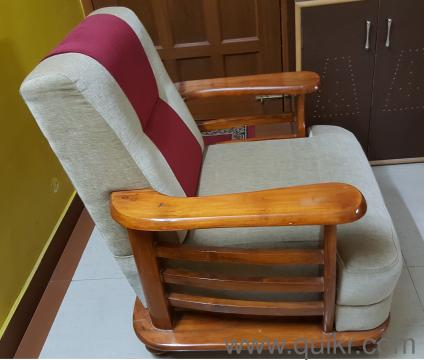 Two Wooden Cushion Sofa Chairs Available In Bangalore In Kasturi Nagar Bangalore Used Home