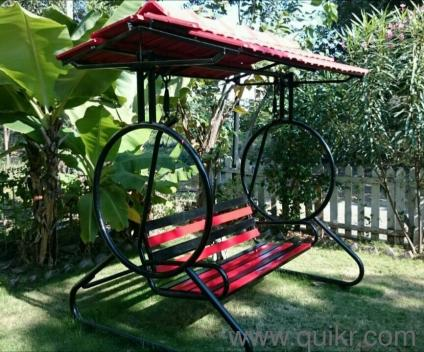 Jhula all steel for terrace garden use 3 seater for Terrace jhula