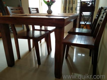 Solid Wood Dining Set In H S R Layout Bangalore Used Home Office Furniture On Bangalore Quikr