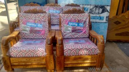 A Brand New Sofa Set Assam Teak Wood With Qushan Free