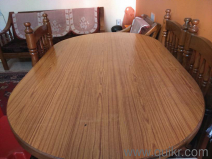 Dining Table With 4 Chairs And It Is Teak Wood Gently Used Home Office Furniture