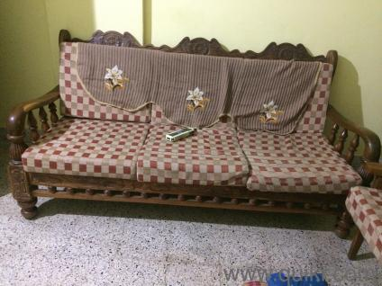 Teak Wood Sofas And Showcase In Good Condition Gently Home Office Furniture Jakkur