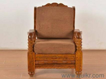 Strong heavy teak wood sofa - Almost Home - Office Furniture