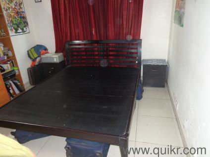 Teak wood double beds Online Furniture Shopping India  NewUsed