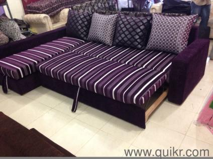 L Shape Sofa Cum Bed With Storage Available In Lowest