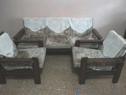 Wooden Sofa With Cushions Gently Home Office Furniture