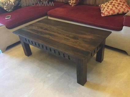 Teakwood polished centre table for drawing room - Brand Home