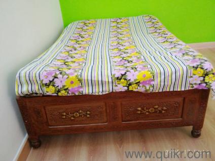 Teak wood double beds online shopping Sell Buy Teak wood double