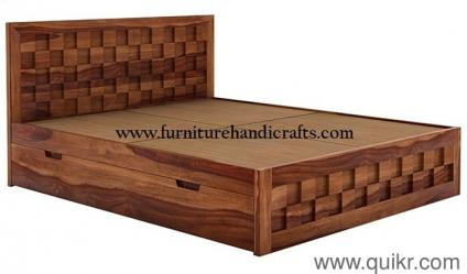 Sheesham Solid Wooden Furniture Long Time Durable Storage Double Cot Brand Home Office