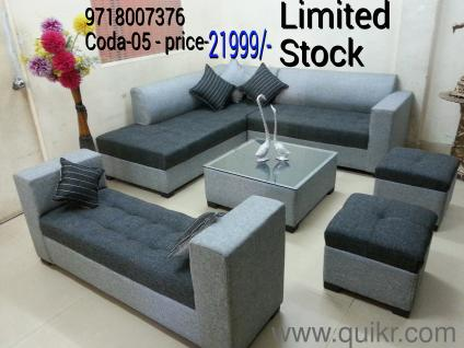 Lowest price brand new 9 seated sofa set with center table for Home sofa set price