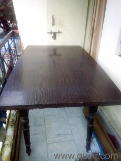 1 6 Seater Teakwood Dining Table 6000 OnlyDining Table Furniture Bazaar  Watchwrestling Us